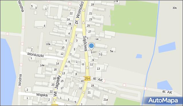 Mogilno, Sądowa, 7, mapa Mogilno