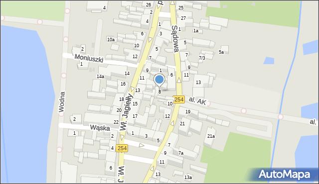Mogilno, Sądowa, 8, mapa Mogilno