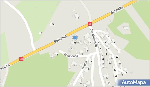 Przemyśl, Sanocka, 39, mapa Przemyśla