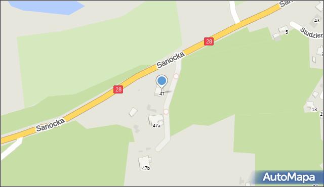 Przemyśl, Sanocka, 47, mapa Przemyśla
