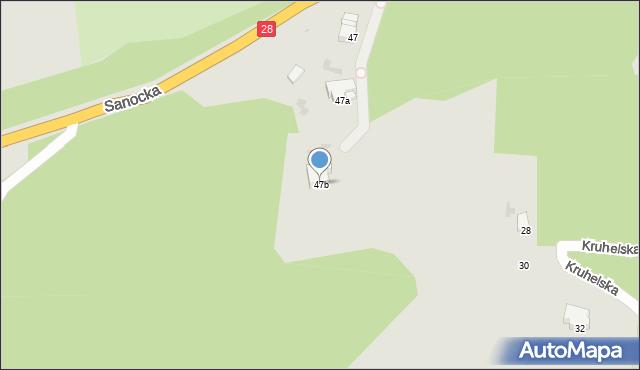 Przemyśl, Sanocka, 47b, mapa Przemyśla
