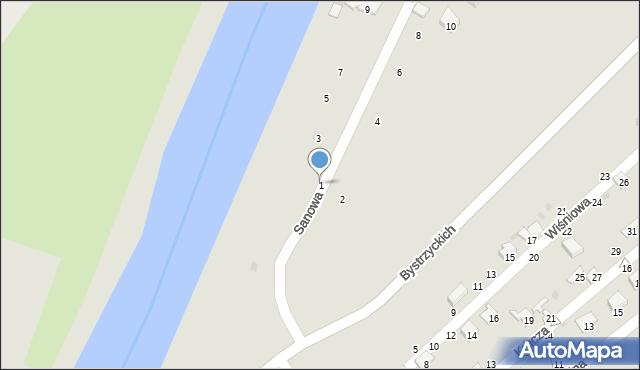 Przemyśl, Sanowa, 1, mapa Przemyśla