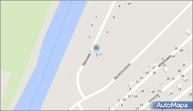 Przemyśl, Sanowa, 2, mapa Przemyśla