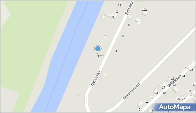 Przemyśl, Sanowa, 3, mapa Przemyśla