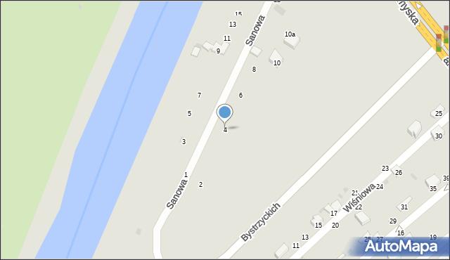 Przemyśl, Sanowa, 4, mapa Przemyśla