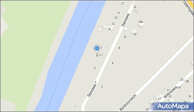 Przemyśl, Sanowa, 5, mapa Przemyśla