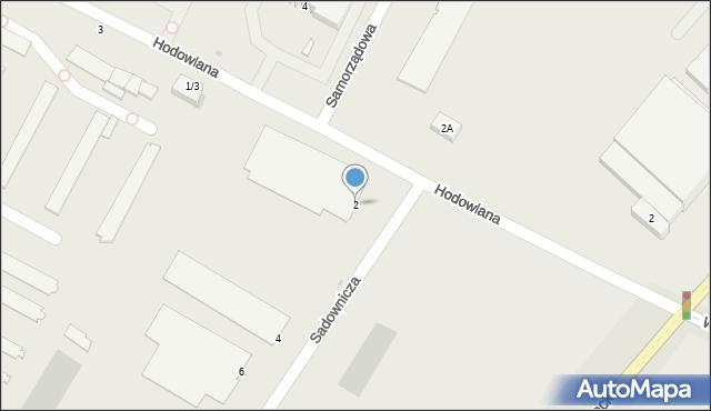 Radom, Sadownicza, 2, mapa Radomia