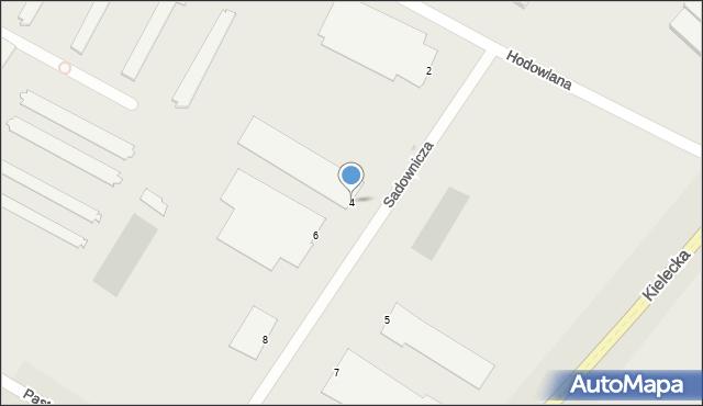 Radom, Sadownicza, 4, mapa Radomia