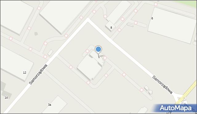 Radom, Samorządowa, 1, mapa Radomia