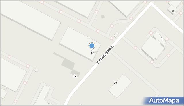 Radom, Samorządowa, 12, mapa Radomia