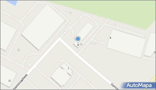 Radom, Samorządowa, 8, mapa Radomia