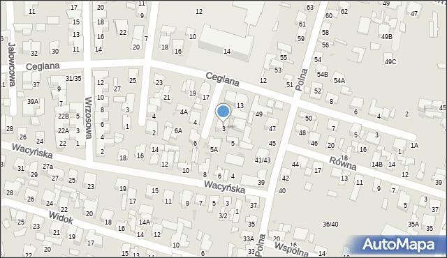 Radom, Sanocka, 3, mapa Radomia