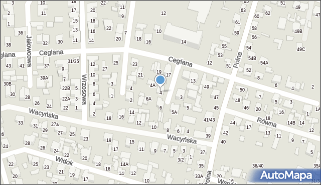 Radom, Sanocka, 4, mapa Radomia
