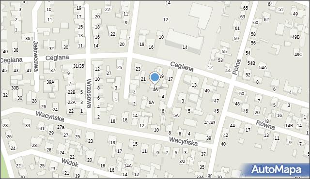 Radom, Sanocka, 4A, mapa Radomia