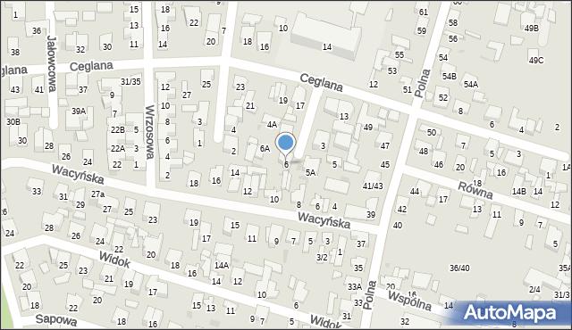 Radom, Sanocka, 6, mapa Radomia