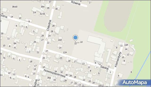 Radom, Saska, 12, mapa Radomia