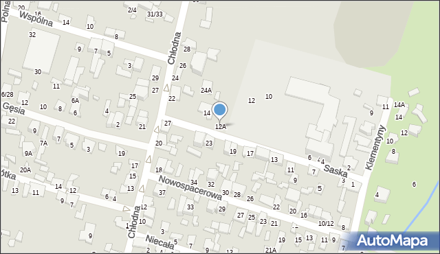 Radom, Saska, 12A, mapa Radomia