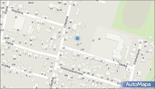 Radom, Saska, 14, mapa Radomia