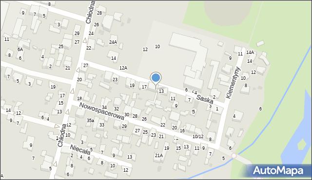 Radom, Saska, 15, mapa Radomia
