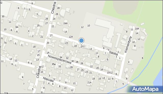 Radom, Saska, 17, mapa Radomia