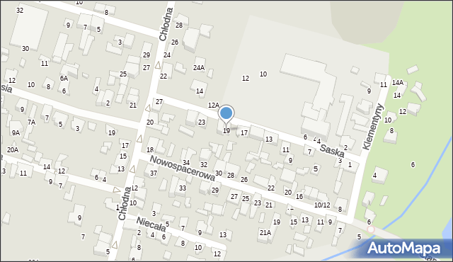 Radom, Saska, 19, mapa Radomia