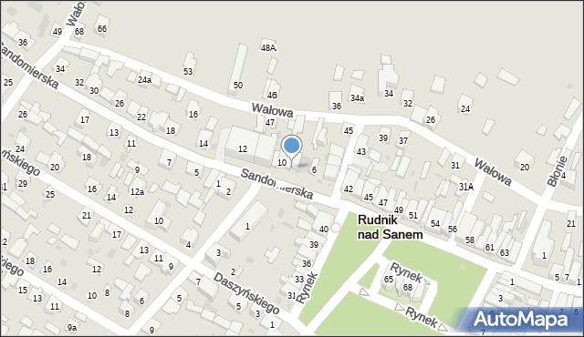 Rudnik nad Sanem, Sandomierska, 8A, mapa Rudnik nad Sanem