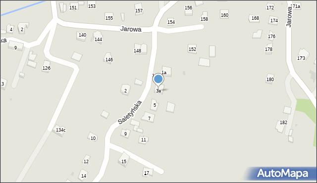 Rzeszów, Saletyńska, 3a, mapa Rzeszów