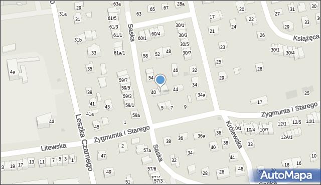 Rzeszów, Saska, 42a, mapa Rzeszów