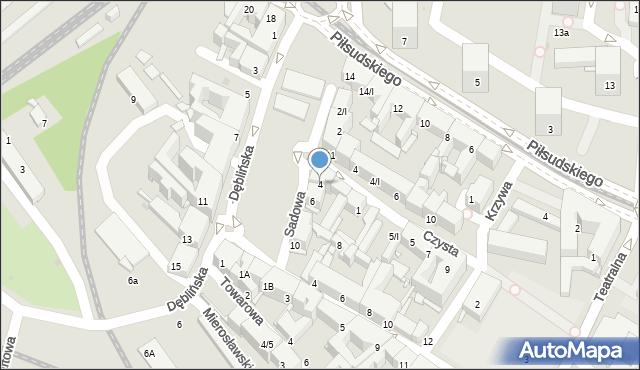 Sosnowiec, Sadowa, 4, mapa Sosnowca