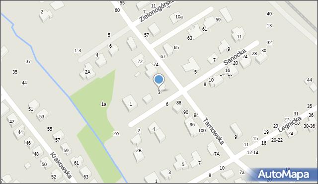 Toruń, Sanocka, 3, mapa Torunia