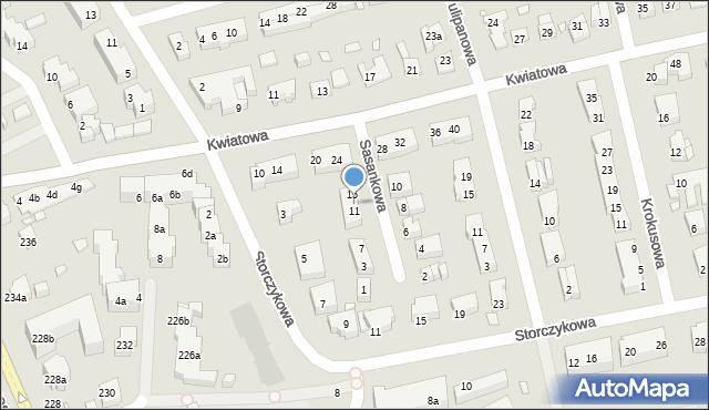 Toruń, Sasankowa, 13, mapa Torunia
