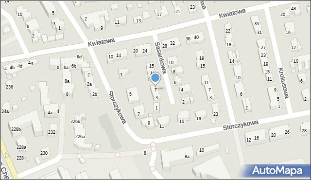 Toruń, Sasankowa, 7, mapa Torunia
