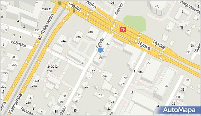 Warszawa, Sabały, 23, mapa Warszawy