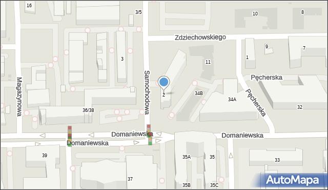 Warszawa, Samochodowa, 2, mapa Warszawy