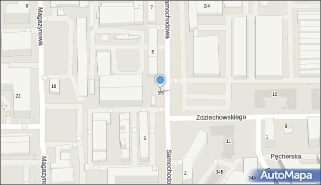 Warszawa, Samochodowa, 3/5, mapa Warszawy