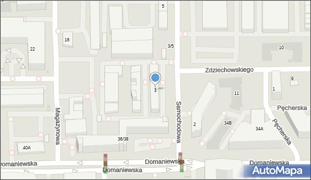 Warszawa, Samochodowa, 3, mapa Warszawy