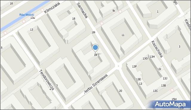 Warszawa, Sarmacka, 18, mapa Warszawy