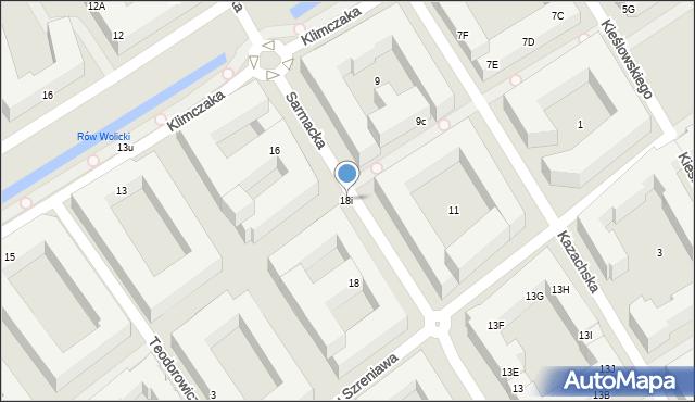 Warszawa, Sarmacka, 18i, mapa Warszawy