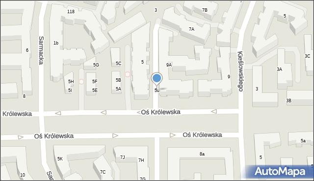 Warszawa, Sarmacka, 5u, mapa Warszawy