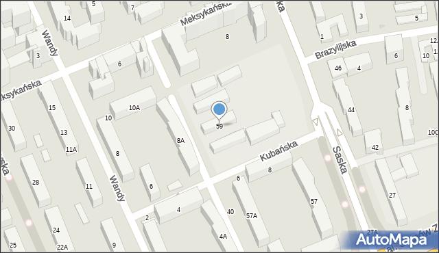 Warszawa, Saska, 59, mapa Warszawy