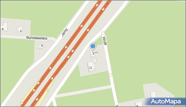 Warszawa, Sarny, 3, mapa Warszawy