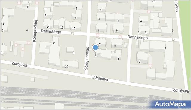 Kołobrzeg, Ściegiennego Piotra, ks., 2, mapa Kołobrzegu