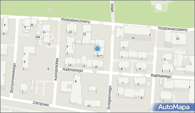 Kołobrzeg, Ściegiennego Piotra, ks., 6, mapa Kołobrzegu