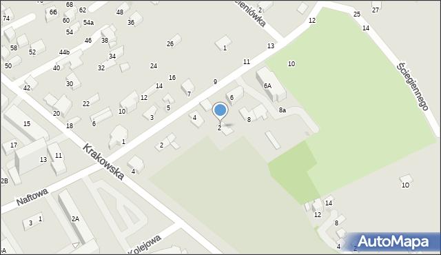 Krosno, Ściegiennego Piotra, ks., 2, mapa Krosna