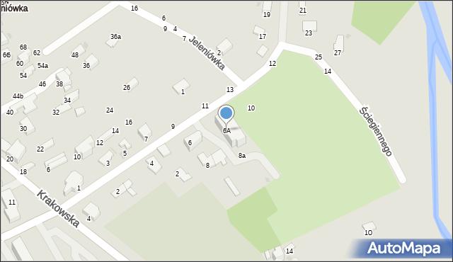 Krosno, Ściegiennego Piotra, ks., 6A, mapa Krosna