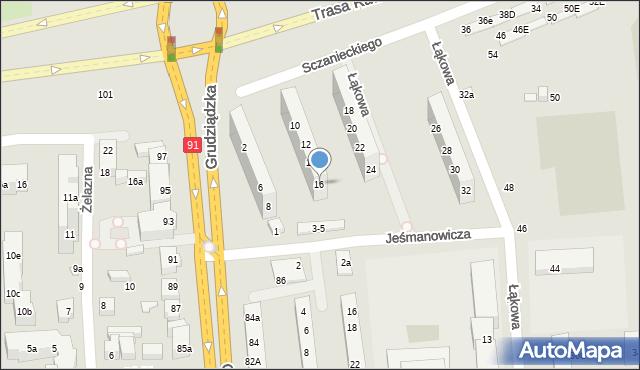 Toruń, Sczanieckiego Michała, 16, mapa Torunia