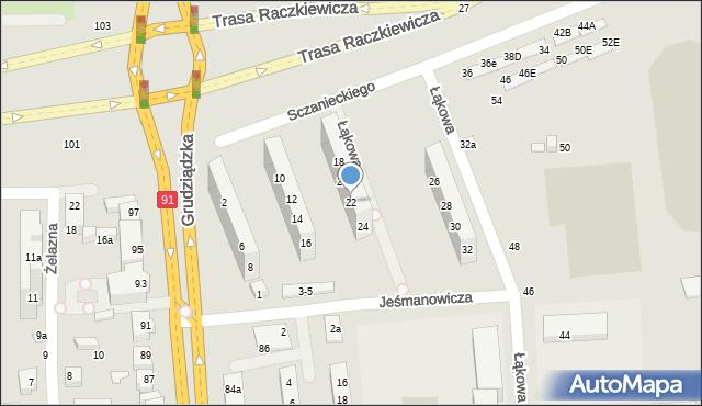 Toruń, Sczanieckiego Michała, 22, mapa Torunia