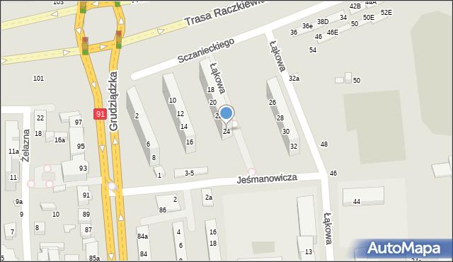 Toruń, Sczanieckiego Michała, 24, mapa Torunia