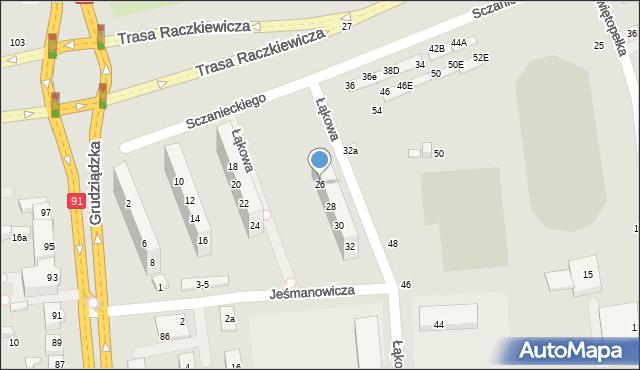 Toruń, Sczanieckiego Michała, 26, mapa Torunia