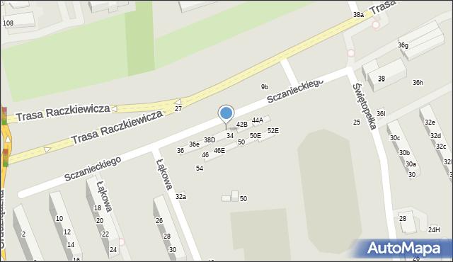 Toruń, Sczanieckiego Michała, 40D, mapa Torunia
